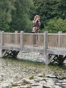 Kerry-on-bridge-taking-pics