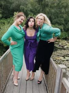 Three-models-on-bridge-pulling-faces---Autumn-2011