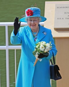 The Queen in blue