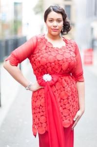 Fashion show Feb - red dress 2