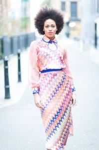 fashion show - Patterned dress - Feb 2013