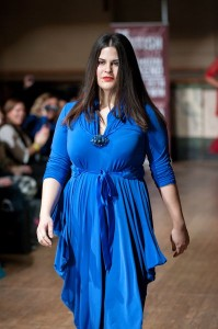 fashion show - blue dress - feb 2013