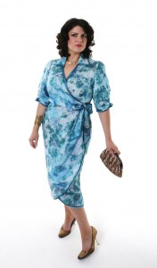 Madeleine-in-teal-wrap-over-dress