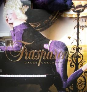 Stockings--purple-tights