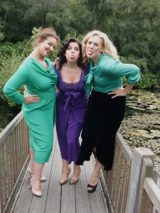Three-models-on-bridge-pulling-faces---Autumn-2011