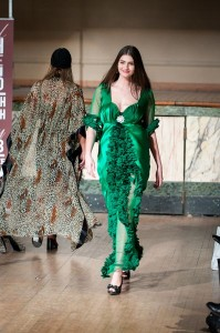 Fashion show Feb - green evening gown 2